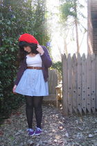 red stolen from Peter hat - purple Urban Outfitters shoes
