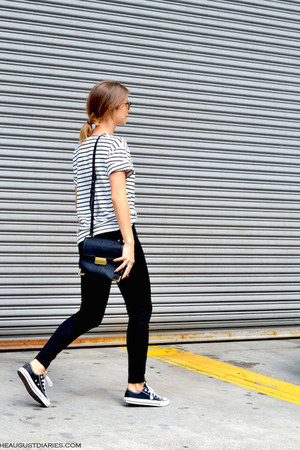 black black Plenty jeans - navy striped Choies shirt