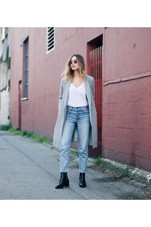 grey wool Aritzia coat