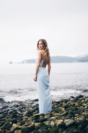 blue maxi Forever 21 dress