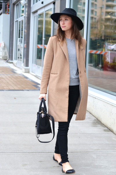 camel H&M coat