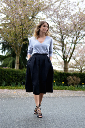 full mid length 424 Fifth skirt - cashmere 424 Fifth sweater