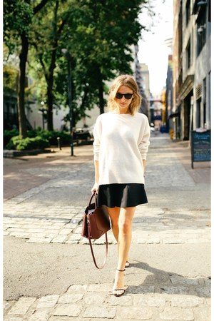 Zara sweater - Aritzia bag - mini Forever 21 skirt