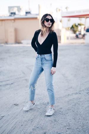American Apparel bodysuit - Aritzia jeans