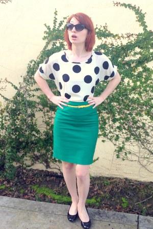 Ebay blouse - J Crew skirt