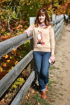 JCPenney sweater - DSW boots