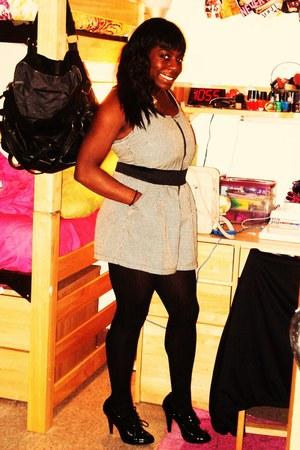 Target tights - Charlotte Russe jumper - Target heels - Forever 21 necklace