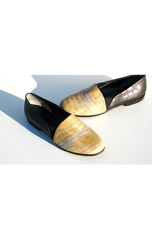 yellow Lauro Righi shoes - black