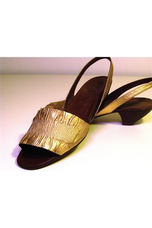 gold Lauro Righi clogs