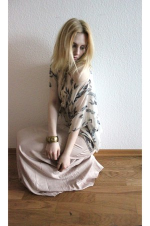 maxi rose H&M skirt - Primark top
