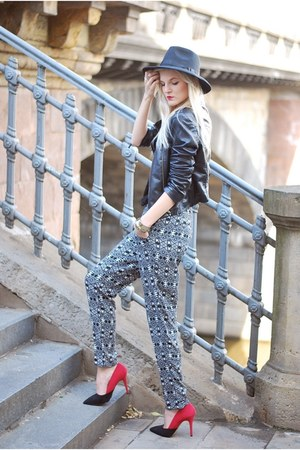 Choies hat - Sheinside jacket - H&M pants - Timeless heels
