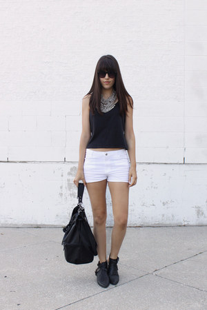 bucket H&M bag - H&M shorts - H&M top