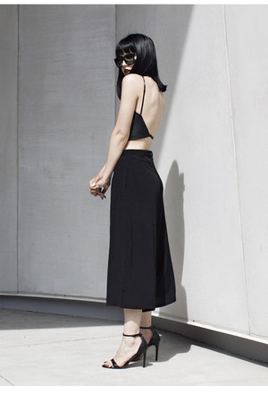 leather American Apparel top - culottes Motel Rocks shorts
