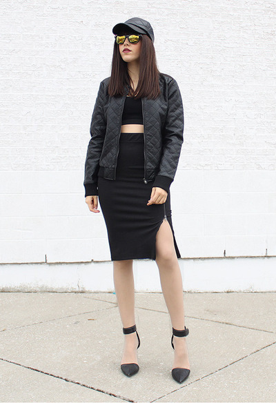 Forever 21 hat - quilted Forever 21 jacket - zipper Forever 21 skirt