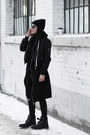Black-timberland-boots-black-bomber-romwe-jacket