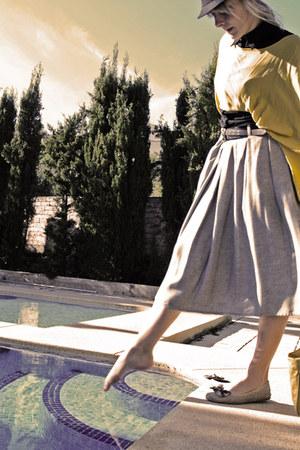 periwinkle Zara skirt - gold Zara shirt