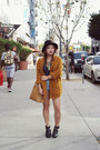 Leather-shellys-london-boots-topshop-shorts-knitted-yesstyle-cardigan