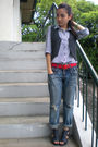 White-topshop-shirt-black-thrifted-vest-from-hongkong-jeans-blue-parisian-