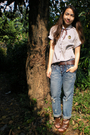 White-vintage-top-from-hongkong-jeans-brown-parisian-shoes-brown-random-be