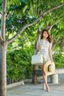Light-blue-floral-a-line-sheinside-dress