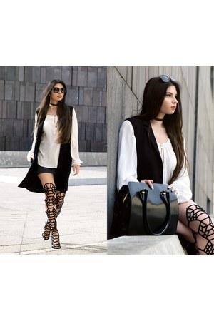 Mango shirt - Miu Miu sunglasses - H&M skirt - Forever 21 vest