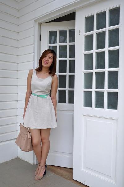 cream Forever 21 dress