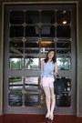 Light-pink-zara-shorts-blue-h-m-top