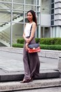 Charles-keith-bag-charles-keith-wedges-forever-new-pants-h-m-top