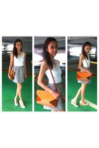Charles & Keith bag - Forever New skirt - Charles & Keith wedges - H&M top