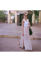 Ever New skirt - Charles and Keith bag - bangkok top