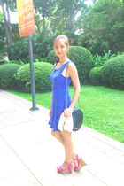 Topshop dress - Mango bag - Fioni wedges