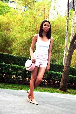Bershka shorts - H&M top - Zara flats