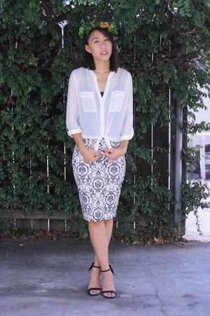 white unknown brand shirt - white baroque unknown brand skirt