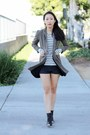 Brown-tweed-ralph-lauren-coat-black-pleather-forever-21-shorts