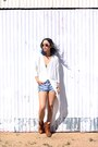 Burnt-orange-unknown-boots-blue-unknown-shorts-white-tobi-top