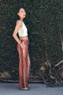 White-cropped-daisies-diy-top-brick-red-unknown-pants