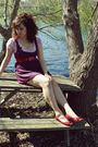 Red-shoes-red-dress-red-belt-red-top