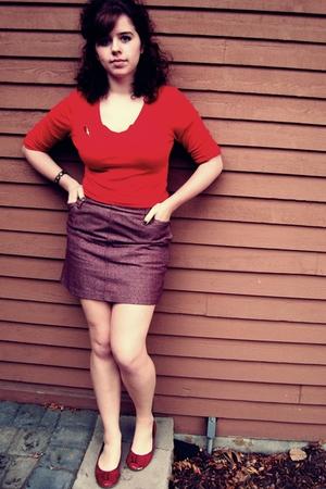 JCrew skirt - shoes - Target skirt