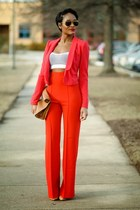 red H&M blazer
