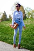 light blue H&M shirt