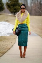 yellow asos sweater