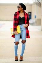sky blue asos jeans