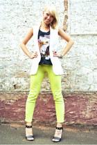 white long vest cichic vest - black Charlotte Russe heels