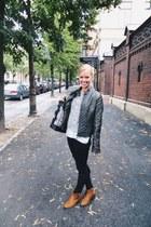 tawny tassel ami clubwear boots - dark gray deb jacket