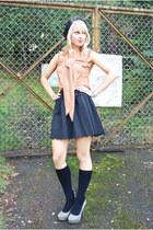 ruffle H&M top - Charlotte Russe pumps - scallop hem Choies skirt