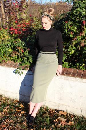 black Rachel Pally shirt - olive green Moschino scarf