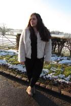 faux fur next jacket - crimson Primark boots - Matalan romper