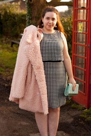 Missguded coat - Primark dress - new look bag - new look heels