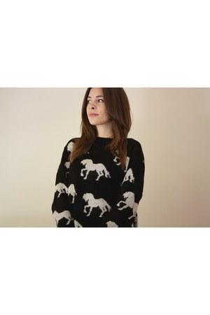horses wool Topshop jumper
