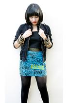 Betty blazer - Revenge Fork skirt - Revenge Fork bracelet